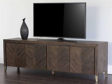 Sunpan Modern Home Zenn Brown / Antique Brass TV Stand SPN103369