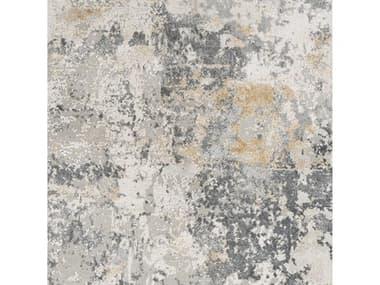Surya Aisha Charcoal / Medium Gray Light Mustard Square Sample SYAIS2303SAMPLE