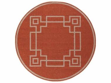 Surya Alfresco Round Rust, Camel & Cream Area Rug SYALF9631ROU
