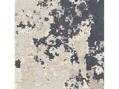 Surya Andromeda Ivory / Pale Blue Light Gray Taupe Medium Camel Charcoal Square Sample SYANM1007SAMPLE