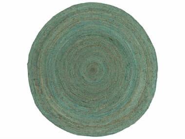 Surya Brice Round Mint, Dark Brown & White Area Rug SYBIC7000ROU