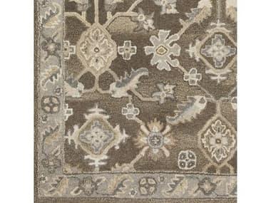 Surya Caesar Dark Brown / Charcoal Taupe Khaki Beige Camel Black Square Sample SYCAE1200SAMPLE