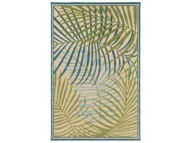 Surya Portera Rectangular Sky Blue, Dark Green & Aqua Area Rug SYPRT1064REC