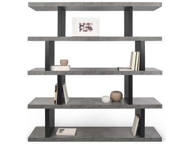 Temahome Step Concrete Look / Pure Black Bookcase TEM9500273278