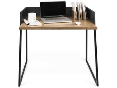 Temahome Volga Walnut / Pure Black 35''W X 24''D Rectangular Computer Desk TEM9003052927