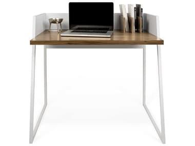 Temahome Volga Walnut / Pure White 35''W X 24''D Rectangular Computer Desk TEM9003052958