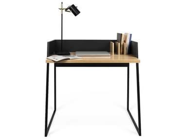 Temahome Volga Oak / Pure Black 35''W X 24''D Rectangular Computer Desk TEM9003052965