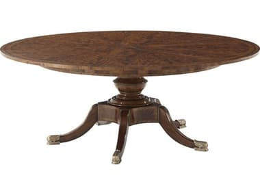 Theodore Alexander Flame Mahogany Veneer / 62'' Wide Round Dining Table TALAL54009