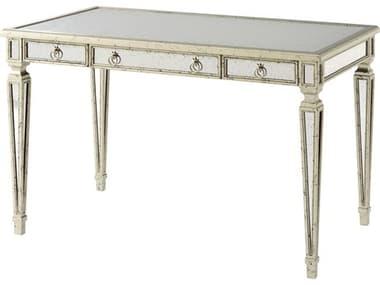 Theodore Alexander Hand Mirrored / Silver Leaf Secretary Desk TAL7150001