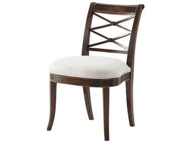 Theodore Alexander Flame Figured Veneer / Mahogany Side Dining Chair TAL40009021AJM