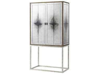 Theodore Alexander The Echoes Smoky Mirror / Echo Oak Bar Cabinet TALCB61027C062