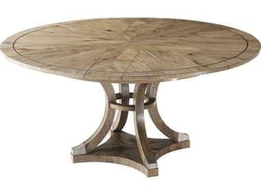Theodore Alexander Echo Oak 48''-64'' Wide Round Dining Table TALCB54034C062
