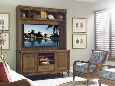 Tommy Bahama Bali Hai 74'' x 22'' Pelican Cay Media Console and Deck Entertainment Center TO593908918SET