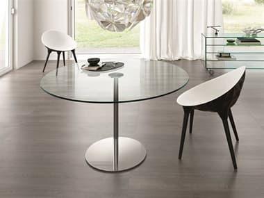 Tonelli Farniente Alto Chrome Plated Metal Round Dining Table TONFARNIENTEALTOTONDO