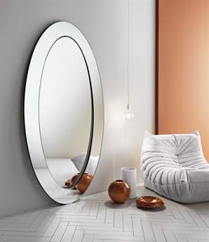 Tonelli Gerundio 41.33'' x 78.74'' Oval Wall Mirror TONGERUNDIOOVAL