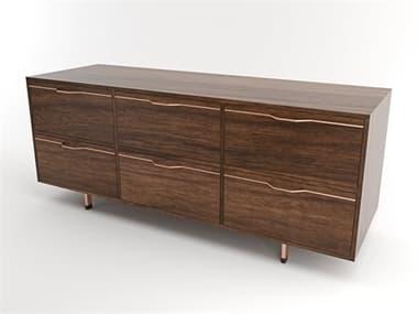 Tronk Design Chapman Storage Collection Rose Copper Triple Dresser TROCHP3U3DWWALCP