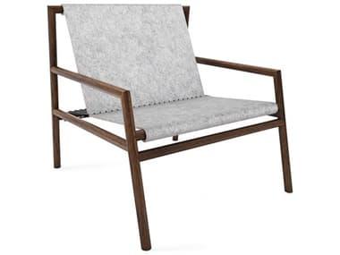 Tronk Design Gallagher Grey Felt / Walnut Accent Chair TROGALLNGWALFLTGRY