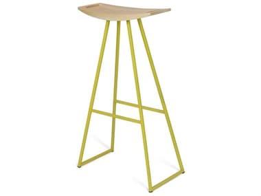 Tronk Design Robert Maple Yellow Side Bar Height Stool TROROBMPLBARNOINLYL