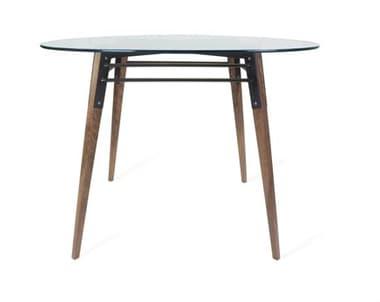Tronk Design Ross Black 42'' Wide Round Dining Table TROROSDINWALBL