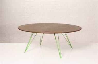 Tronk Design Williams Walnut Round Coffee Table TROWILCOFWALLGCIRGN