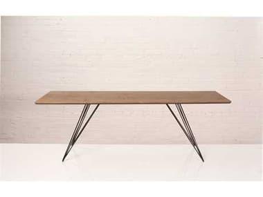 Tronk Design Williams Walnut 54L x 23 Wide Rectangular Coffee Table TROWILCOFWALXSMRECBL