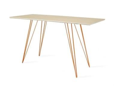 Tronk Design Williams Table Collection Orange Computer Desk TROWILDINMPLXSMRECOR