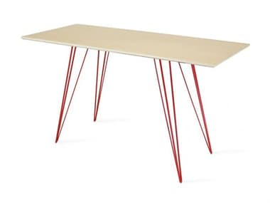 Tronk Design Williams Table Collection Red Computer Desk TROWILDINMPLXSMRECRD