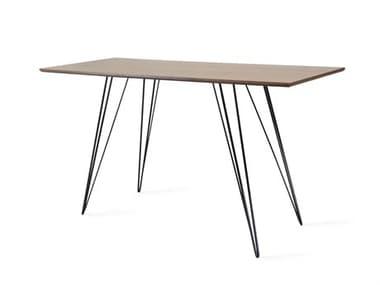 Tronk Design Williams Table Collection Black Computer Desk TROWILDINWALXSMRECBL