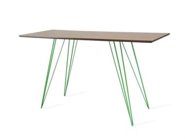 Tronk Design Williams Table Collection Green Computer Desk TROWILDINWALXSMRECGN