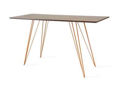 Tronk Design Williams Table Collection Orange Computer Desk TROWILDINWALXSMRECOR