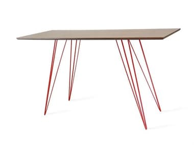 Tronk Design Williams Table Collection Red Computer Desk TROWILDINWALXSMRECRD