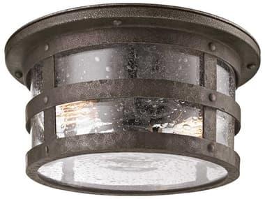 Troy Lighting Barbosa Barbosa Bronze Two-Light 15'' Wide Incandescent Outdoor Flush Mount TLC3310