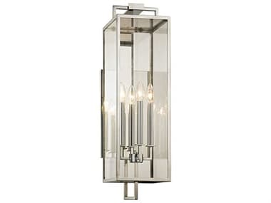 Troy Lighting Beckham Polished Stainless Four-Light 8'' Wide Outdoor Wall Light TLB6533