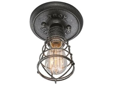 Troy Lighting Conduit Old Silver 6'' Wide Flush Mount TLC3810