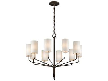 Troy Lighting Juniper Juniper Bronze Ten-Light 42'' Wide Chandelier TLF6179