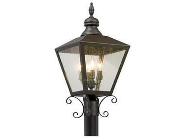 Troy Lighting Mumford Bronze Four-Light 12'' Wide Outdoor Post Light TLP5195