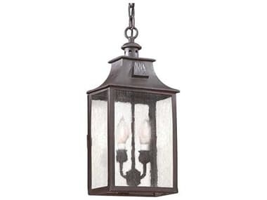 Troy Lighting Newton Old Bronze Two-Light 9'' Wide Outdoor Hanging Light TLFCD9004OBZ