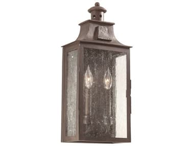 Troy Lighting Newton Old Bronze Two-Light 9'' Wide Outdoor Wall Light TLBCD9008OBZ
