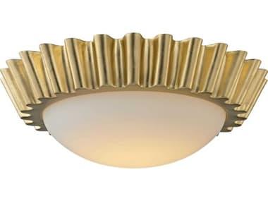 Troy Lighting Reese Gold Leaf 16'' Wide LED Flush Mount TLC5931