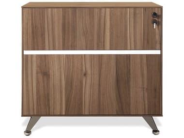 Unique Furniture 300 Series Walnut Lateral File Cabinet JE340WAL