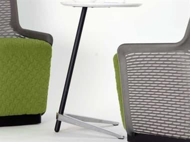 Unique Furniture 400 Collection White 17'' Wide Round Pedestal Table JE469WH