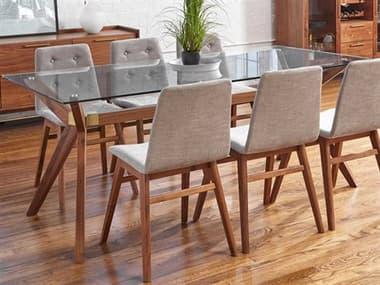 Unique Furniture Denali Walnut 75'' Wide Rectangular Dining Table JEDNLI3575