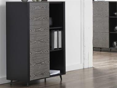 Unique Furniture Oslo Grey Ash / Black Bookcase JEO3116GREY