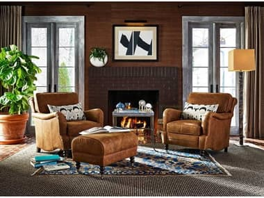 Universal Furniture Leather Chair and Ottoman Set UF682543706SET