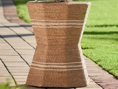 Universal Furniture Coastal Living Wrapped Abaca 18'' Wide Octagon Drum Table UF833812