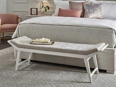 Universal Furniture Miranda Kerr White Lacquer / Bubbly Champagne Accent Bench UF956380