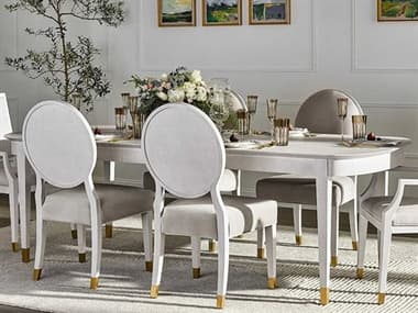 Universal Furniture Miranda Kerr Alabaster 78'' Wide Oval Dining Table with Extension UF956A653