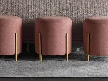 Universal Furniture Miranda Kerr Soft Gold Metal / Fairy Tale Blush Ottoman UF956C382