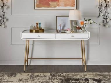 Universal Furniture Miranda Kerr White Lacquer / Soft Gold Secretary Desk UF956813
