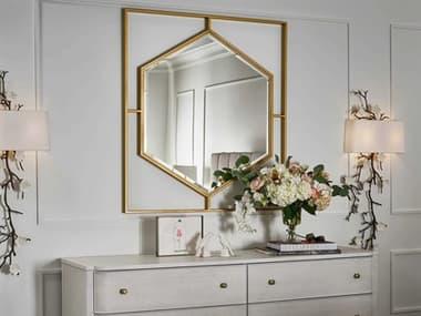 Universal Furniture Miranda Kerr Soft Gold Metal 44''W x 40''H Rectangular Wall Mirror UF956C04M